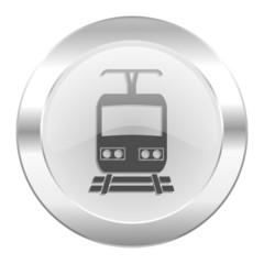 train chrome web icon isolated