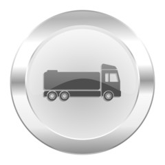 truck chrome web icon isolated