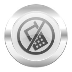 no phone chrome web icon isolated