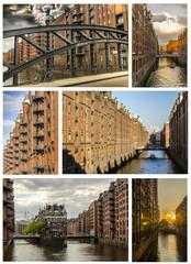 Collage Speicherstadt Hamburg