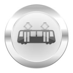tram chrome web icon isolated