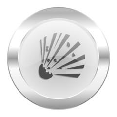 bomb chrome web icon isolated