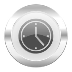 time chrome web icon isolated