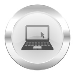 computer chrome web icon isolated