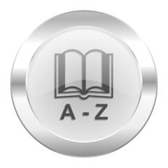 dictionary chrome web icon isolated