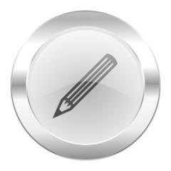 pencil chrome web icon isolated