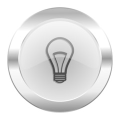 bulb chrome web icon isolated