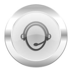 customer service chrome web icon isolated