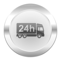 delivery chrome web icon isolated