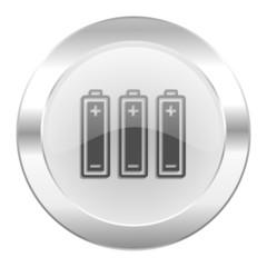 battery chrome web icon isolated