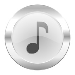 music chrome web icon isolated