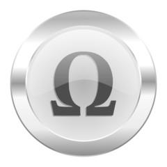 omega chrome web icon isolated