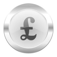 pound chrome web icon isolated