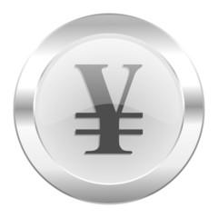 yen chrome web icon isolated