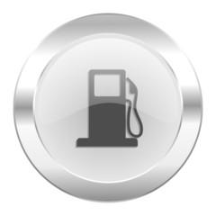 petrol chrome web icon isolated
