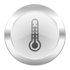 thermometer chrome web icon isolated