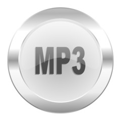 mp3 chrome web icon isolated