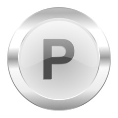 parking chrome web icon isolated