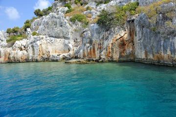 Turchia  isola di Kekova città sommersa