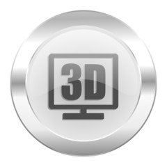 3d display chrome web icon isolated