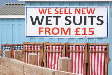 Seaside commerce in Devon UK