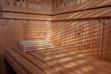 Sauna im Sonnenschein