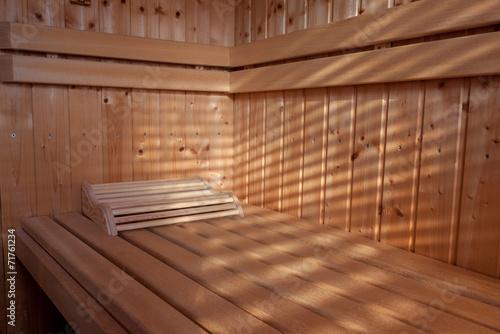canvas print picture Sauna im Sonnenschein