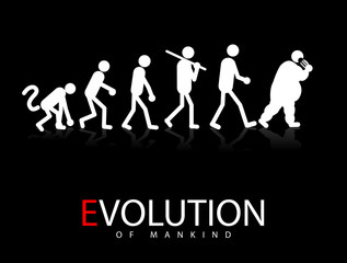 Abstract vector illustration of the evolution theory to obesity