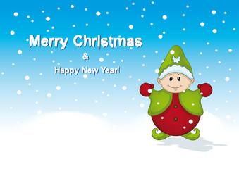 Weihnachtself Merry Christmas