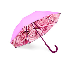 Umbrella with pink roses