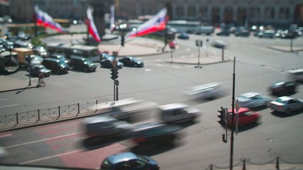 Vosstaniya Square Saint Petersburg Tilt-Shift Time Lapse