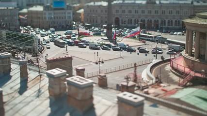 Vosstaniya Square Saint Petersburg Tilt-Shift Time Lapse
