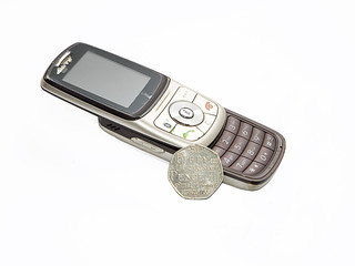 Old phone and the UK currency