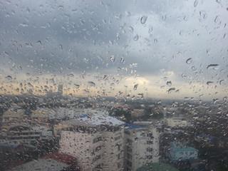 Rainy season in the city