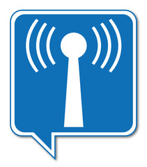 Logo antenne wifi.