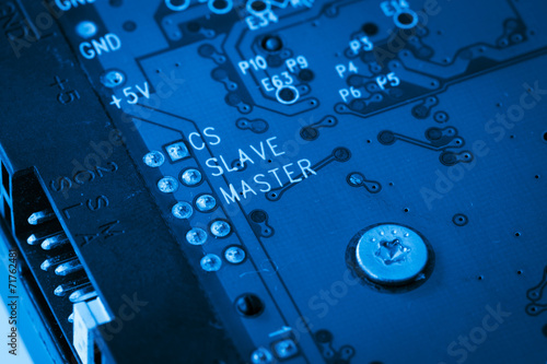 modern blue circuit harddisk board - 71762481