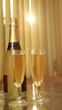 Champagne in glasses,