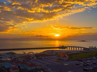 Views of the sunset in Okinawa