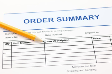Order summary form