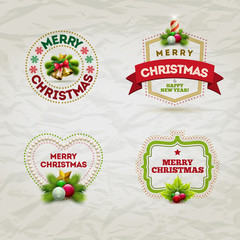 Christmas Badge Set