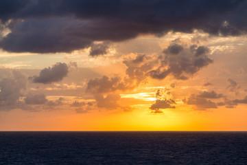 Orange and Purple Sunset at Sea