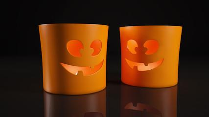 Подсвечник хэллоуин