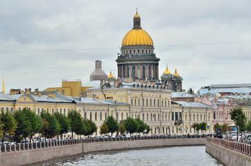 Вид на Исаакиевский собор с реки Мойки, Санкт-Петербург