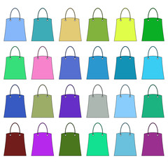 Bags of different colors. Raster