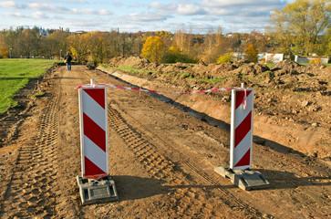 Repair of gravel road.