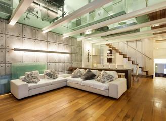 Interior, wide loft