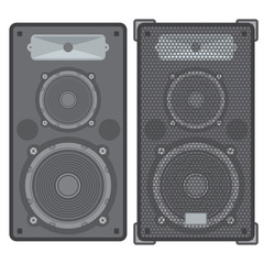 vector concert satellite speakers with protection grid