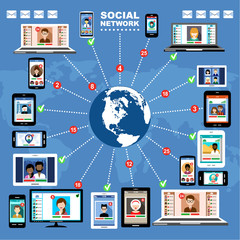 Social Networks. Blogs. Internet communication. vector