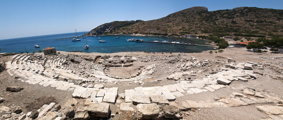 Boats in Knidos, Mugla, Turkey