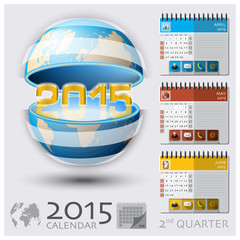 Second Quarter Of 2015 Calendar Global Map
